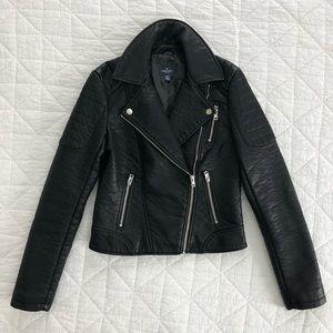 NWOT XS American Eagle Vegan Leather Moto Jacket